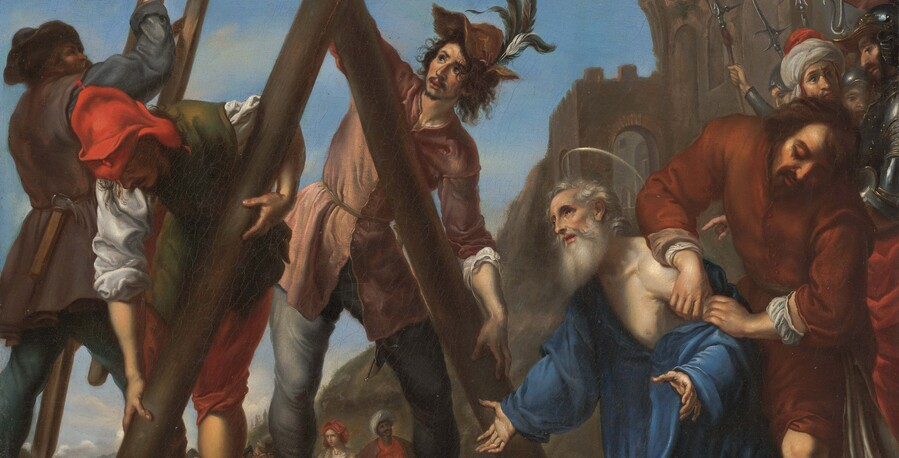 Artist unknown (after Carlo Dolci) The Martyrdom of Saint Andrew (detail) undated. Oil on canvas. Collection of Christchurch Art Gallery Te Puna o Waiwhetū, purchased 2020