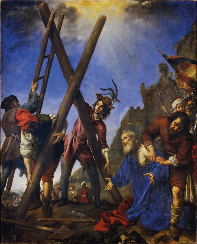 Carlo Dolci The Martyrdom of St Andrew 1646. Oil on canvas. Galleria Palatina di Palazzo Pitti, Florence