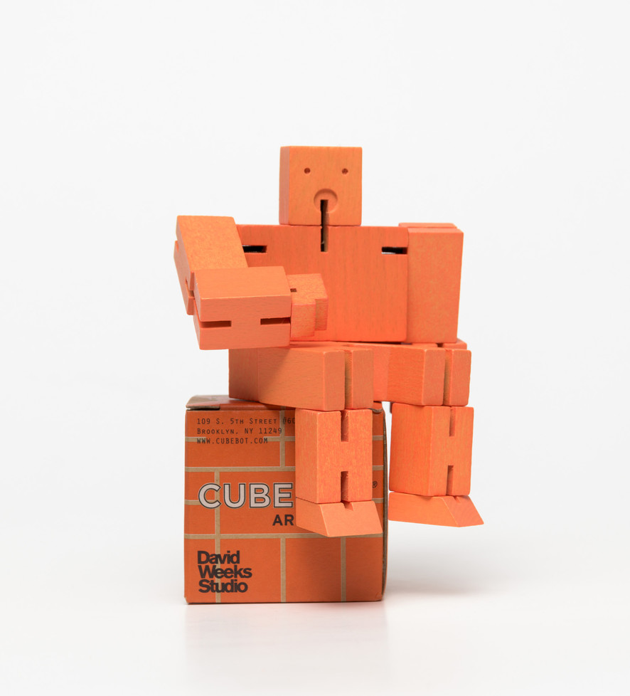 Cubebot Small Orange Toy